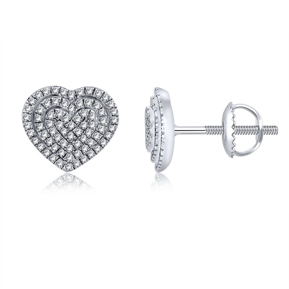 9ct White Gold, 0.23ct Diamond Earrings
