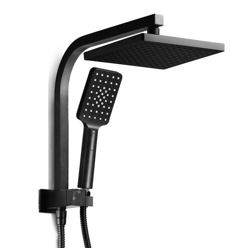Cefito WELS Square 8inch Bathroom Rain Shower Spray Bracket Rail Set 3 Mode