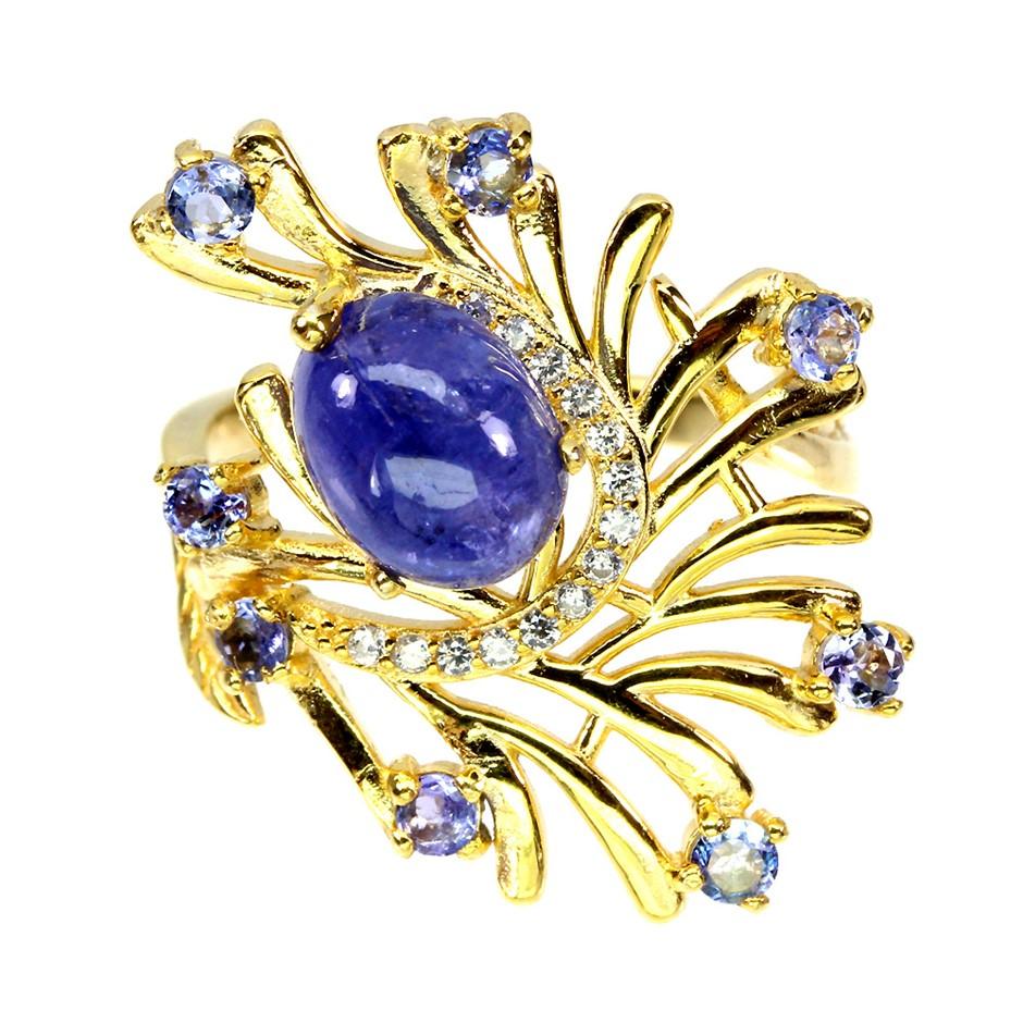 Beautiful Unique Genuine Tanzanite Ring.