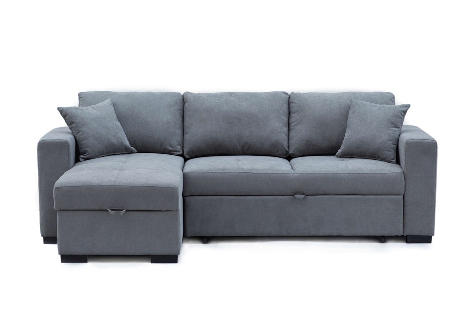 Eva 2.5 Seater Sofa Bed with Storage Chaise - Mist