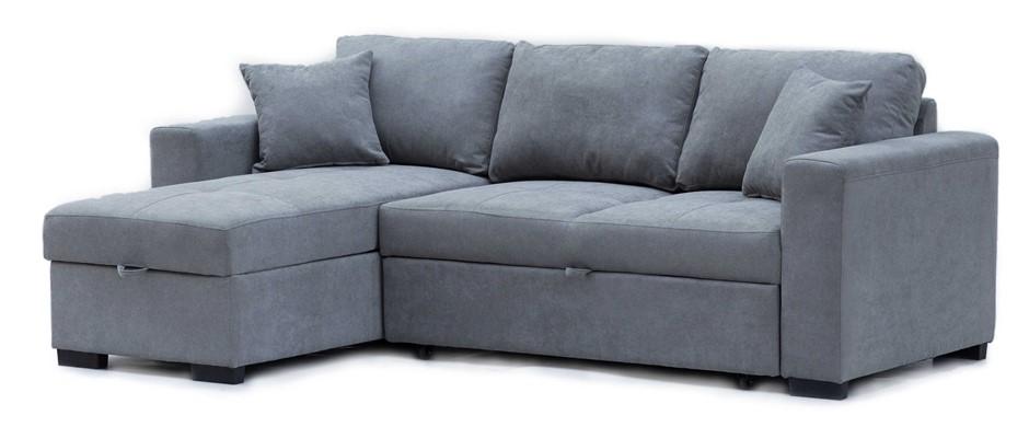 Eva 2.5 Seater Sofa Bed with Storage Chaise - Aqua