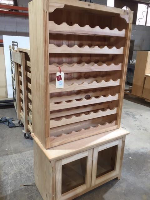 One Set Unfinished Wine Rack 600h/930w/450d 1180h/880w/320d L