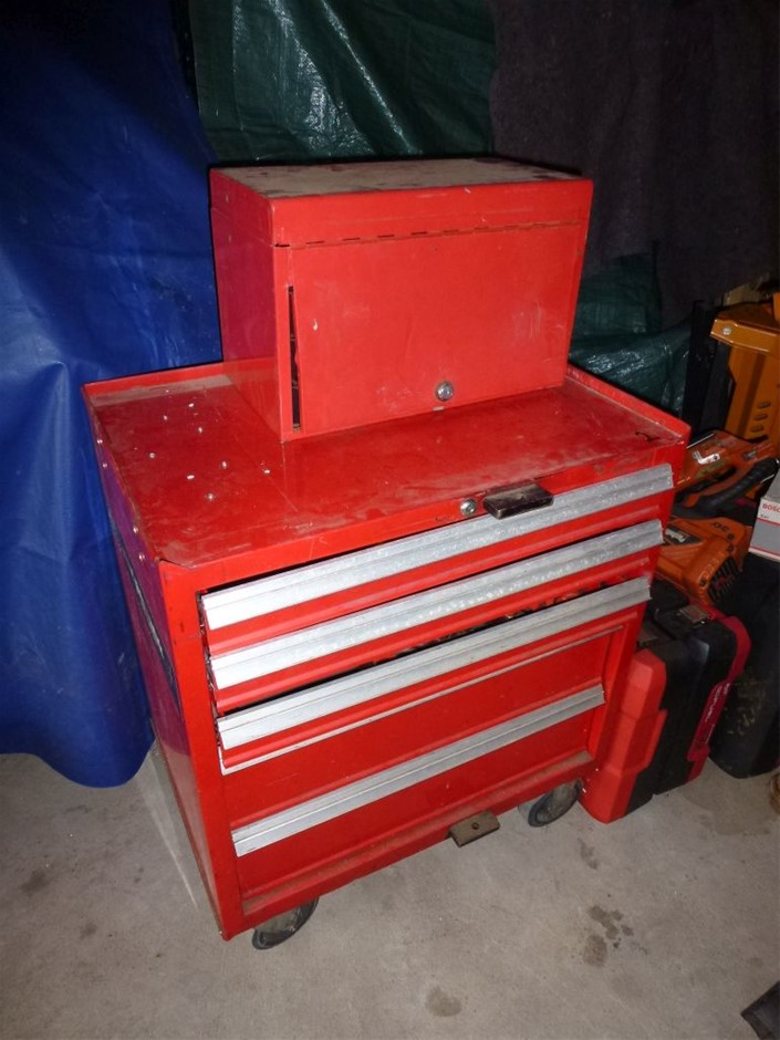 Mini Tool Box & Mobile Tool Chest with Contents