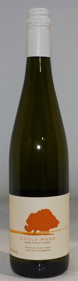 Coola Road Pinot Gris 2018 (12 x 750mL) Mt Gambier, SA