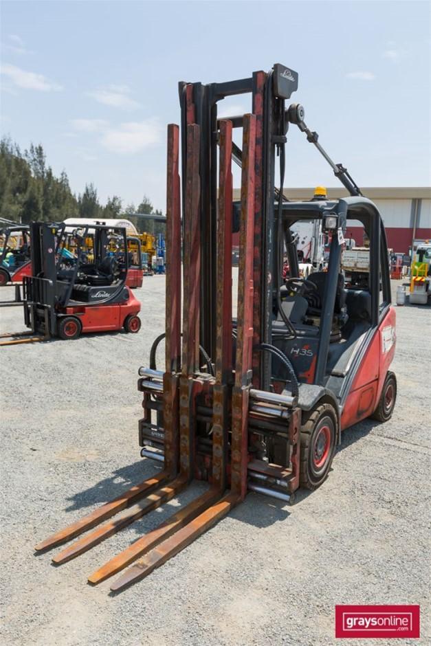 2003 3.5 Tonne Linde H35T 4 Wheel Counter Balance Forklift