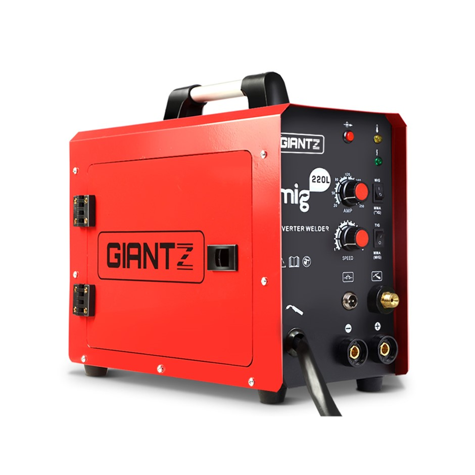 Giantz MIG MAG Welding Machine DC Inverter MMA Welder Gas Gasless 220A