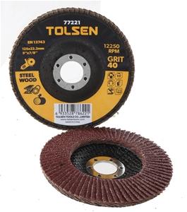 10 x TOLSEN Aluminum Oxide Flap Discs, 1