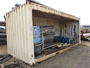 20 Foot Open Side Container with Content