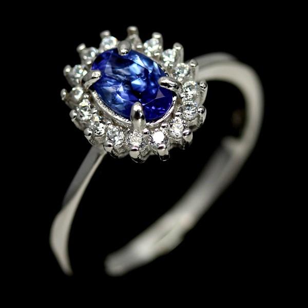 Genuine Tanzanite Solitaire Ring.
