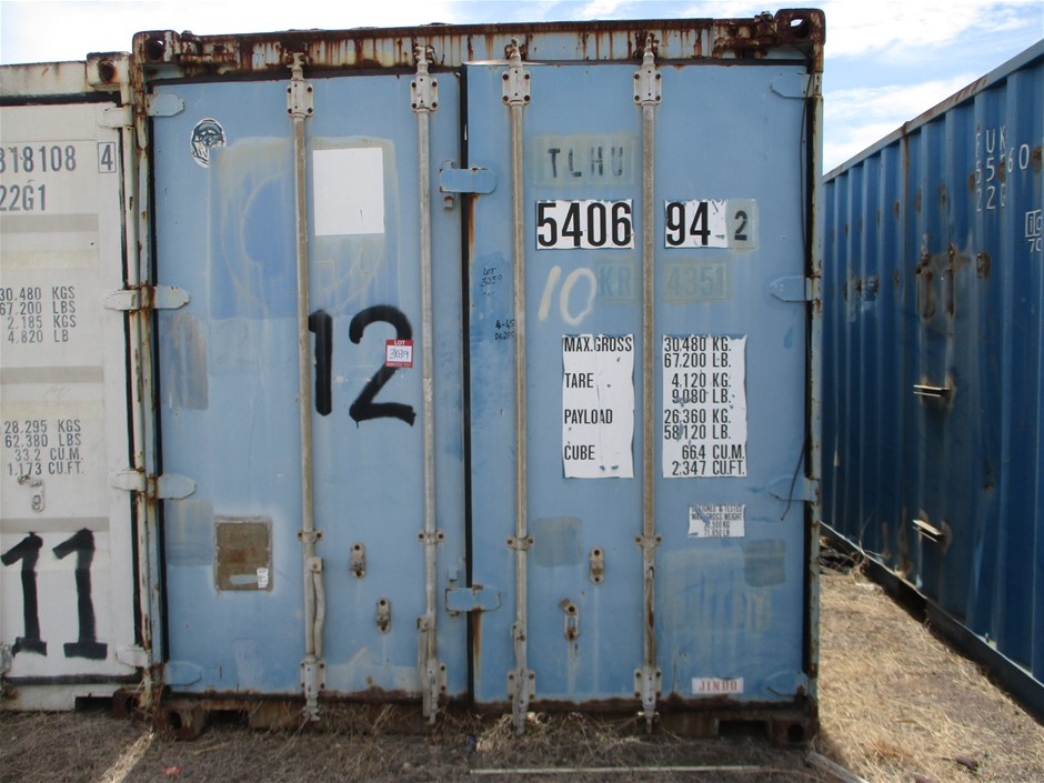 40 Foot Open to Top Shipping Container with Contents