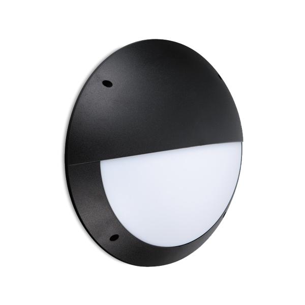 FL7112 - FUZION Lighting - LED Bulkhead ABS 300 Eyelid 12W 4K Black Finish