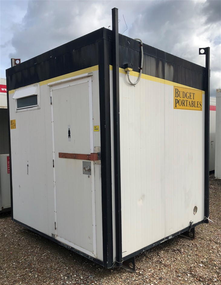 2.4m x 2.4m Skid Mounted Portable Toilet Block (Location: Muchea)