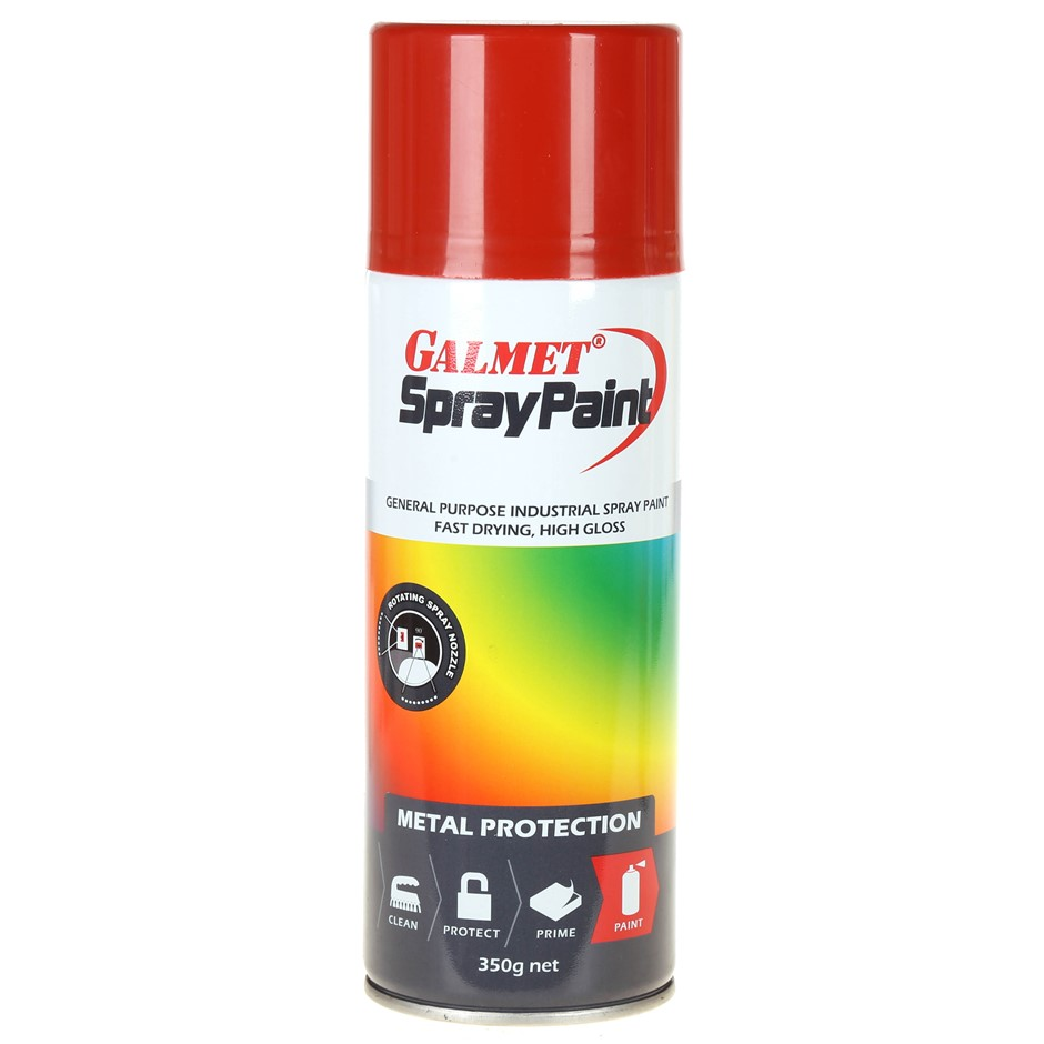 Can GALMET Metal Protection Spray Paint 350g, Ocean Blue. Buyers Note - Dis