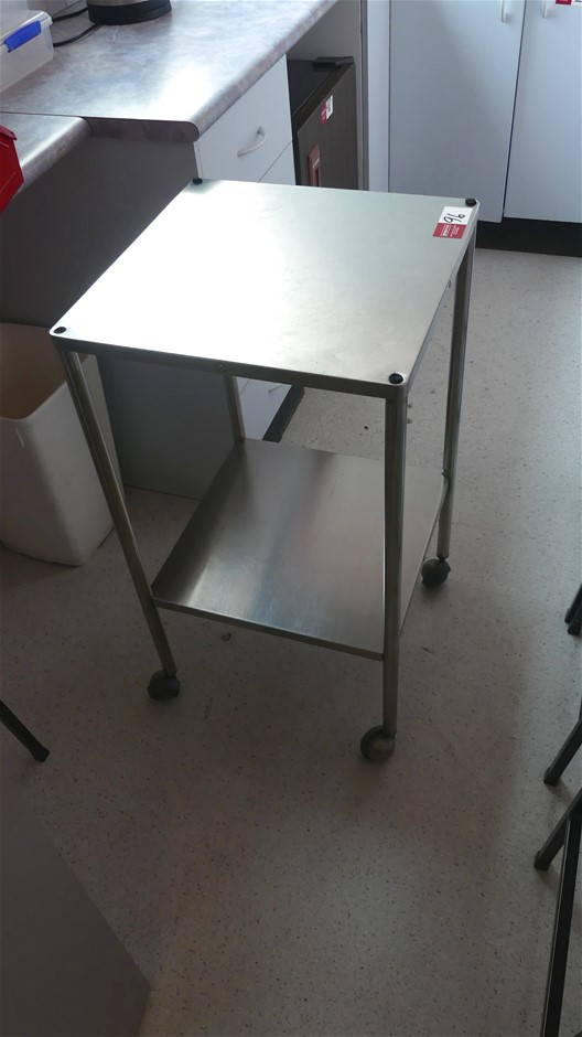 Stainless Steel Mobile Stand with Undershelf