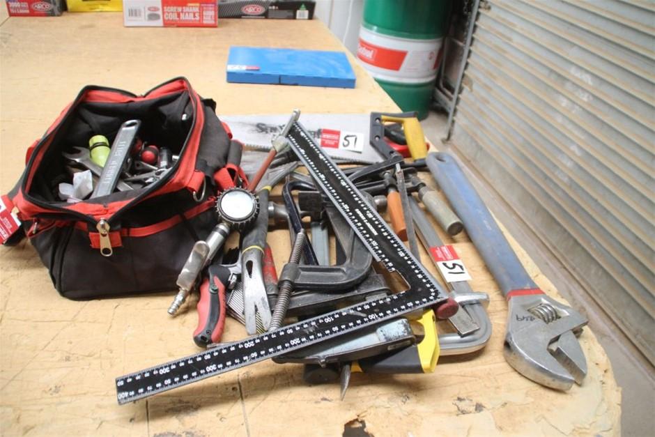 Assorted Hand Tool & Carry Tool Bag