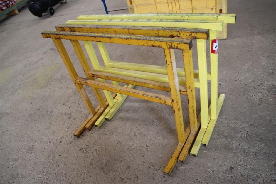4x Steel Tressel Stand