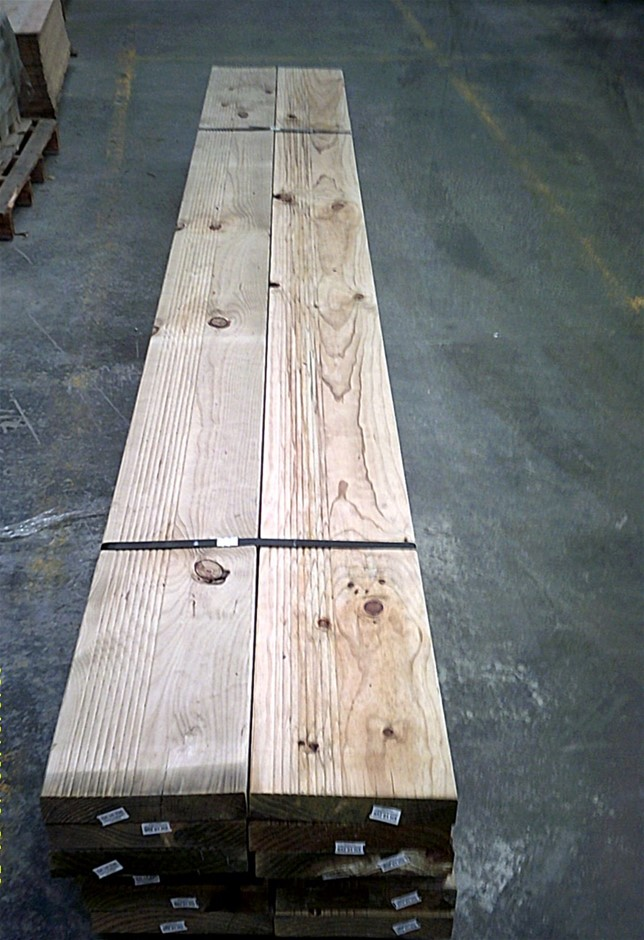 Pack of 6 lengths of 240mm x 45mm H3 Treated Pine,