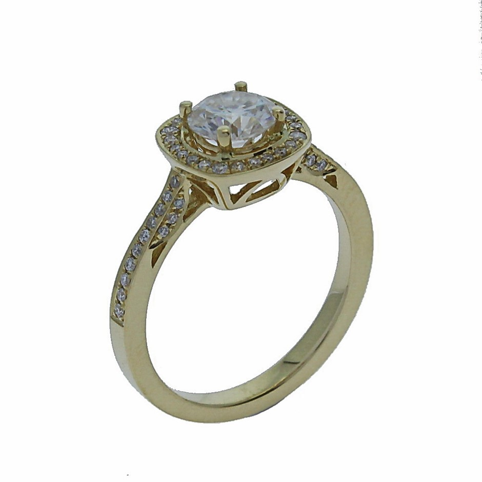 18ct Yellow Gold, 0.95ct Diamond Engagement Ring