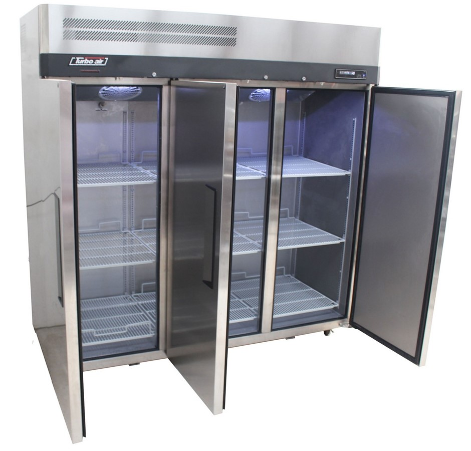 AS NEW TURBO AIR UPRIGHT 3 DOOR FREEZER, QUALITY COMMERCIAL KITCHEN