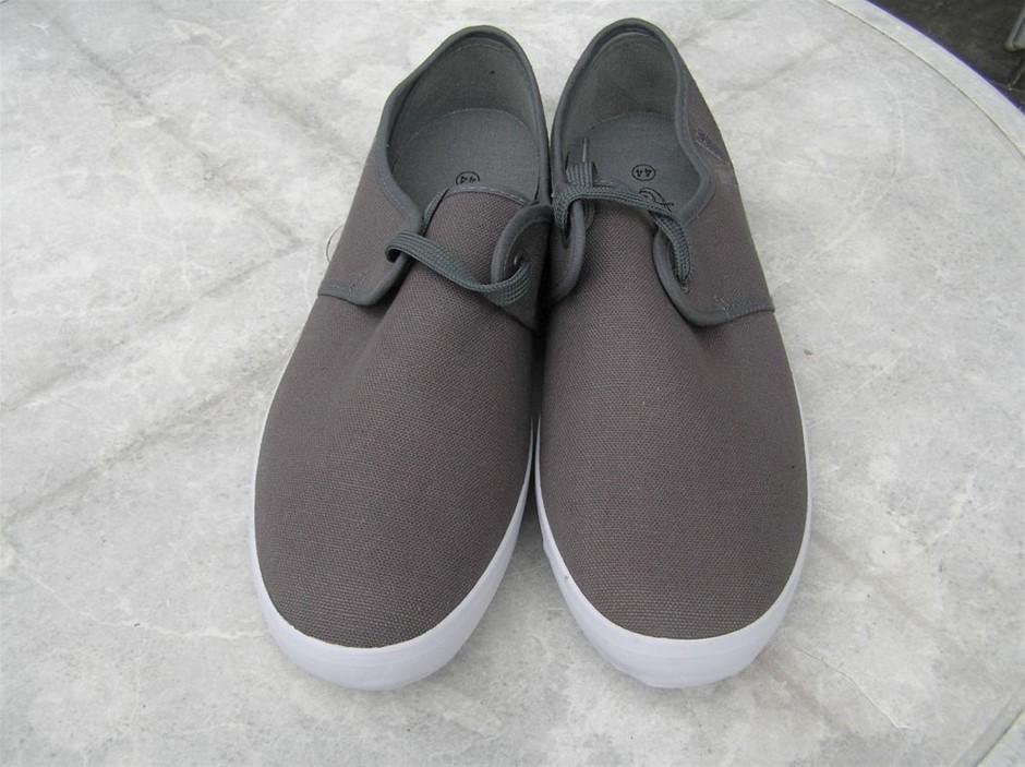 Shoes, Spencer - Soulier Canvas Cruisers - Grey US Size 11, UK/AUS Size 10,