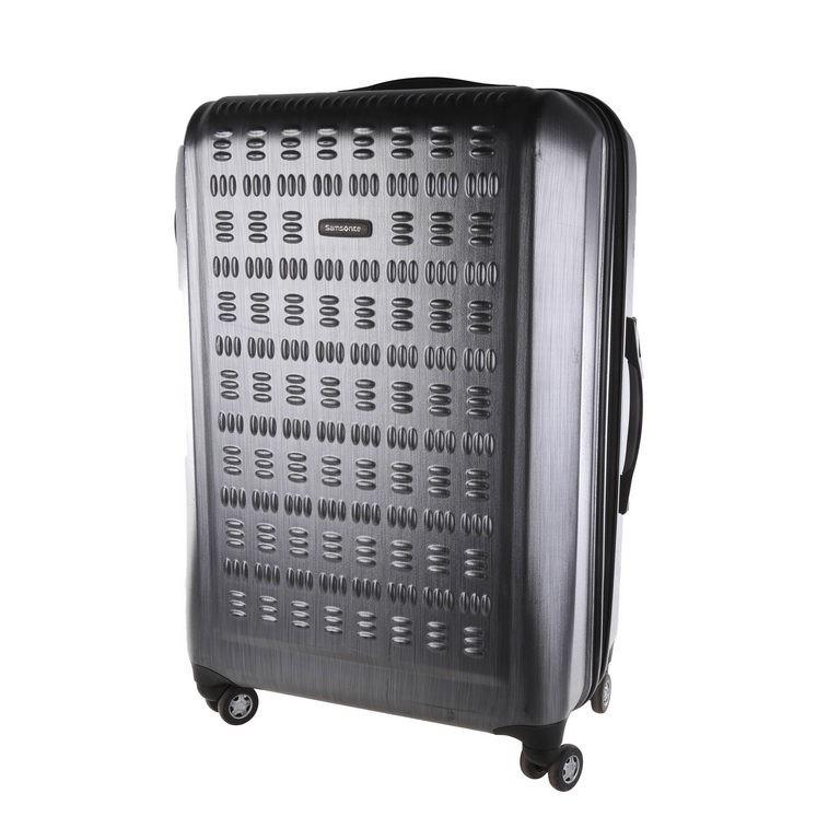 SAMSONITE Hardside Spinner 75cm Luggage, Shinny Black, N.B Minor marks. (SN