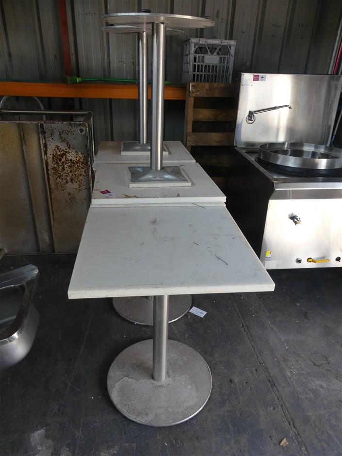 Qty 6 x Square Café Tables