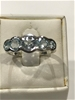 Truly Magnificent Five Stone Blue Topaz Ring  Size M (6.25)