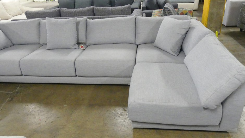 Modular Three seater Lounge plus RHS Chaise Section