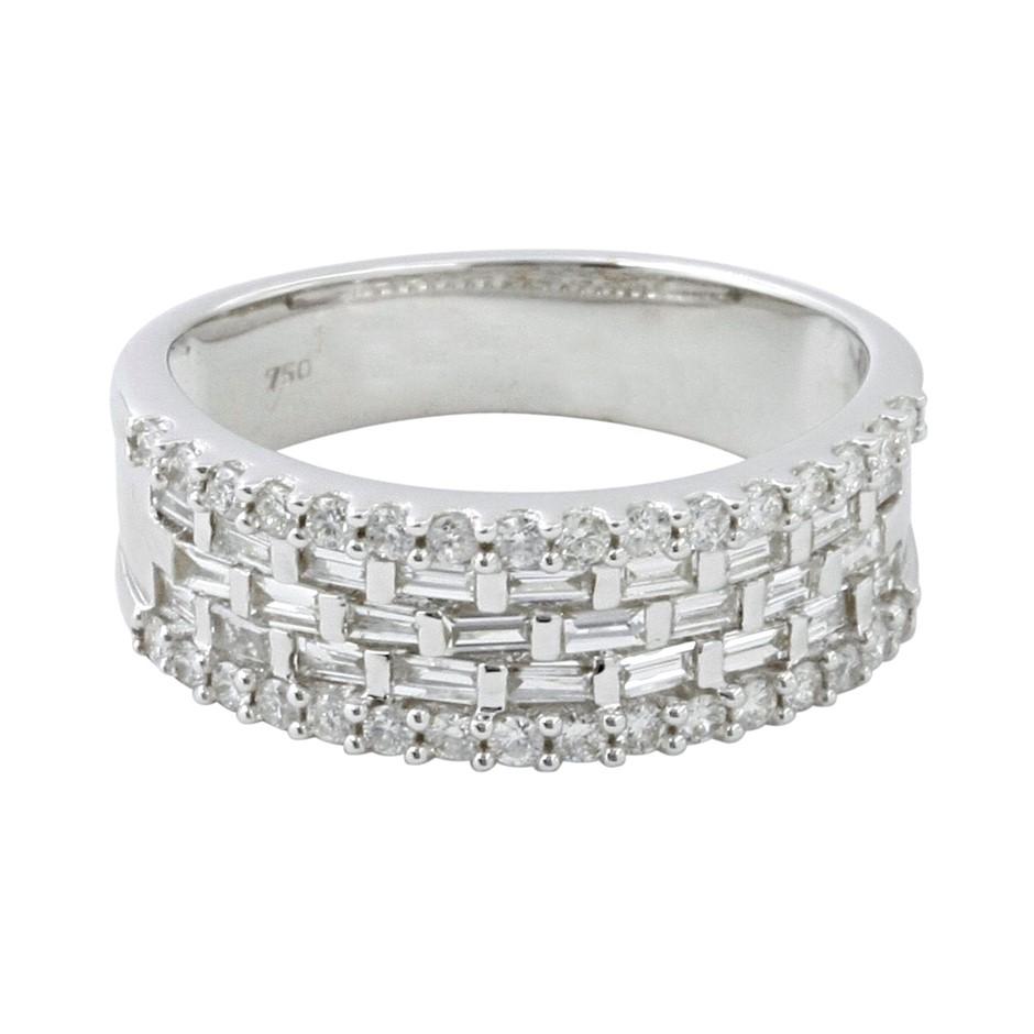 18ct White Gold, 0.85ct Diamond Ring
