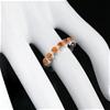Beautiful Rare Genuine Paraiba Topaz Eternity Band Ring