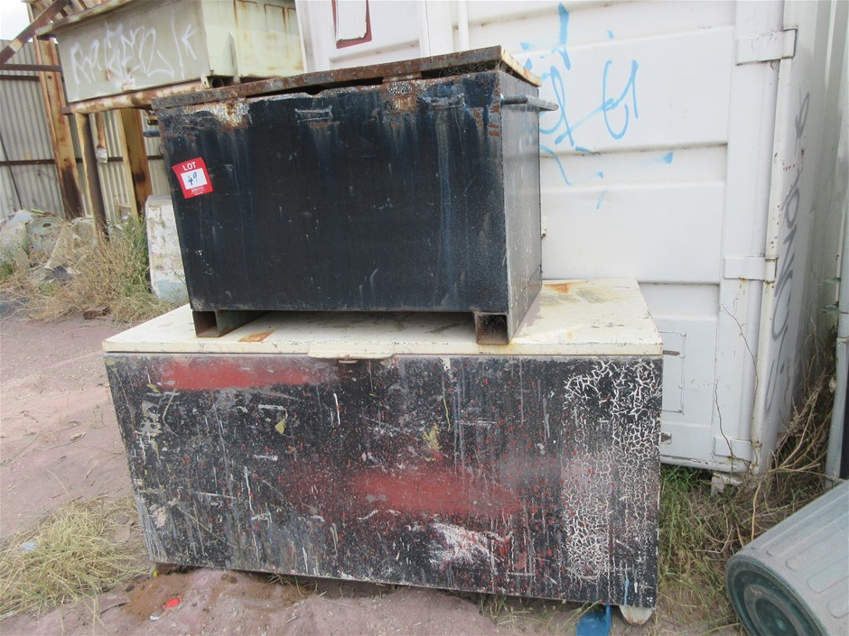 2 Metal Tool Boxes Industrial