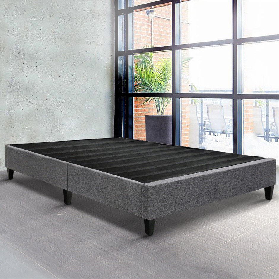 Artiss King Single Size Bed Base Frame Mattress Platform Grey Fabric Wooden