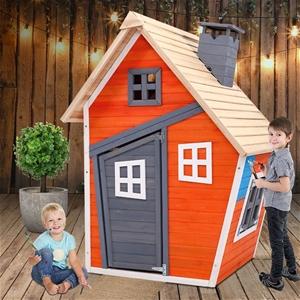 Keezi Kids Cubby House Wooden Outdoor Pl