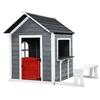 Keezi Kids Cubby House Outdoor Pretend Play Bench Wooden Playhouse