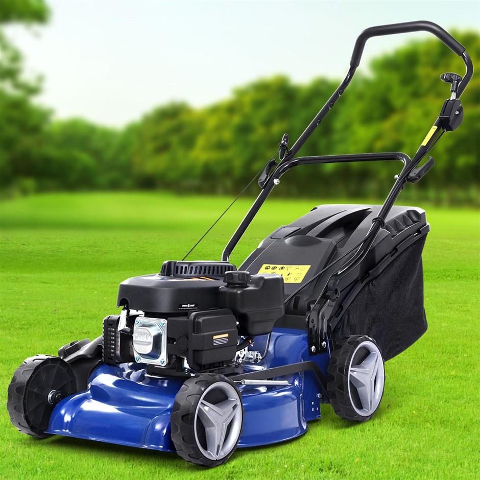 Lawn Mower 19'' 175cc Petrol Powered Push Lawnmower 4 Stroke 4-IN-1
