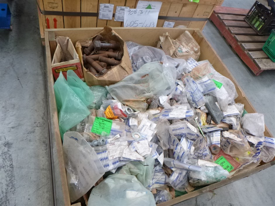 1 x Crate Assorted Komatsu Spare Parts
