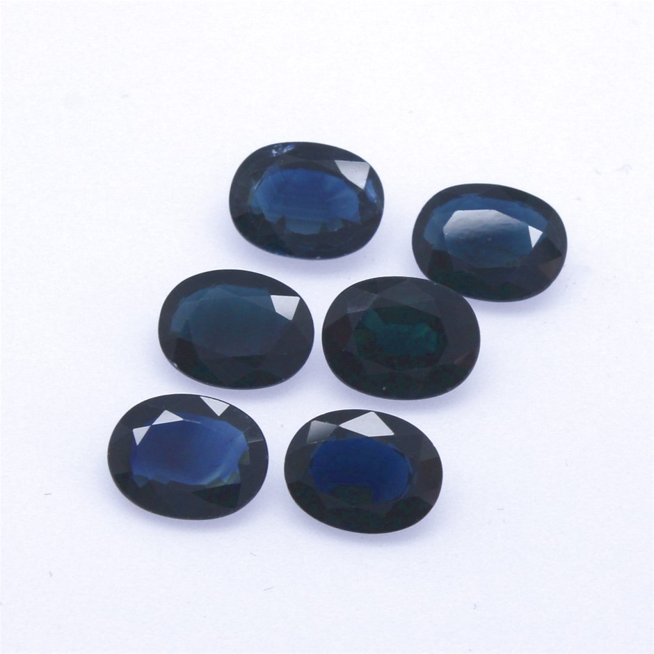 Six Loose Blue Sapphire 8.10ct in Total