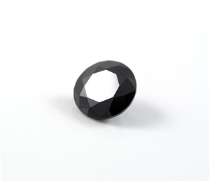 1.25ct Round brilliant cut natural black
