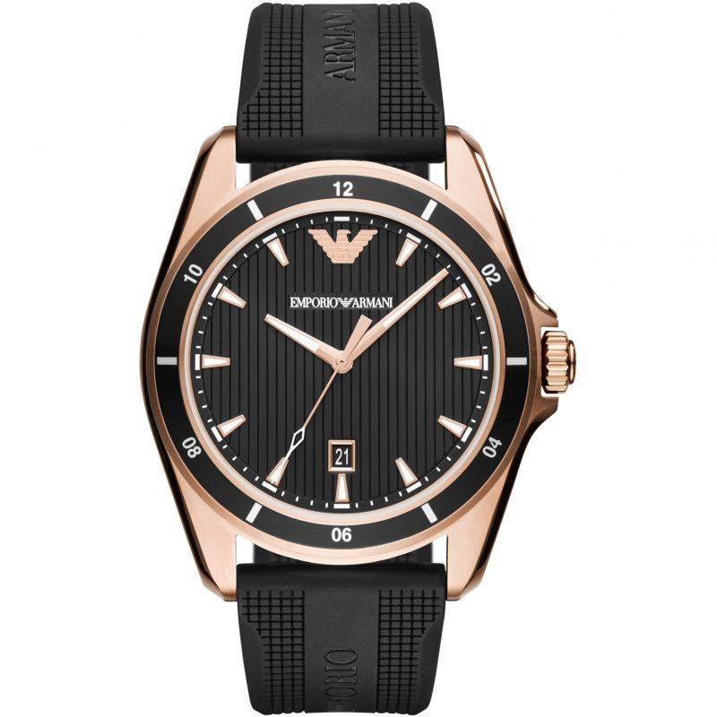 Minimalist new Emporio Armani rose gold plated watch.