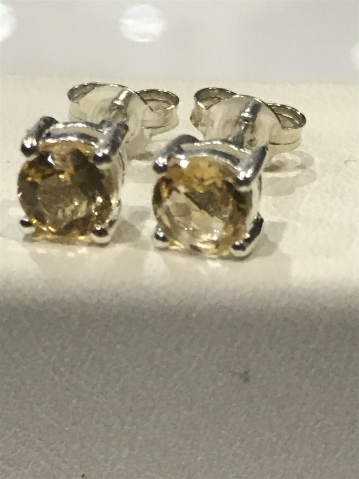 Brilliant Genuine Citrine Earrings