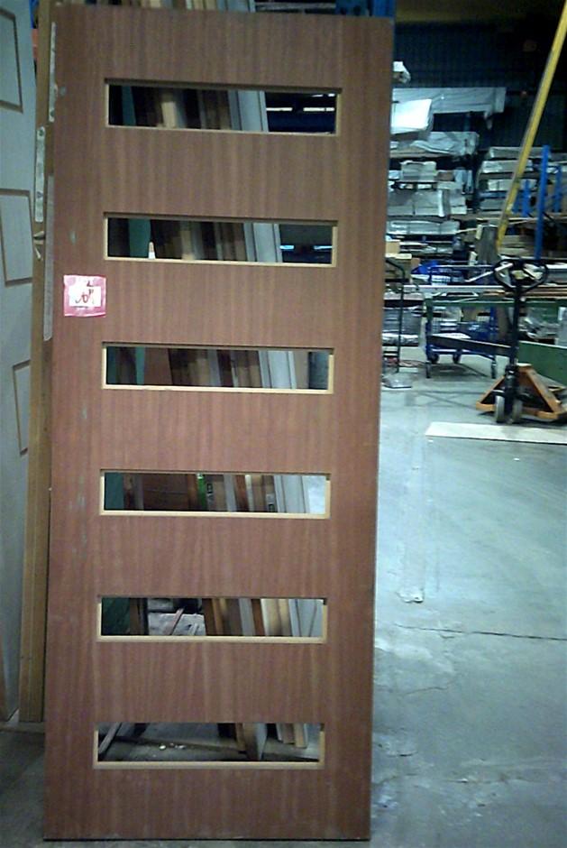 2040mm x 820mm x 40mm Entance Door. Timber Veneer.