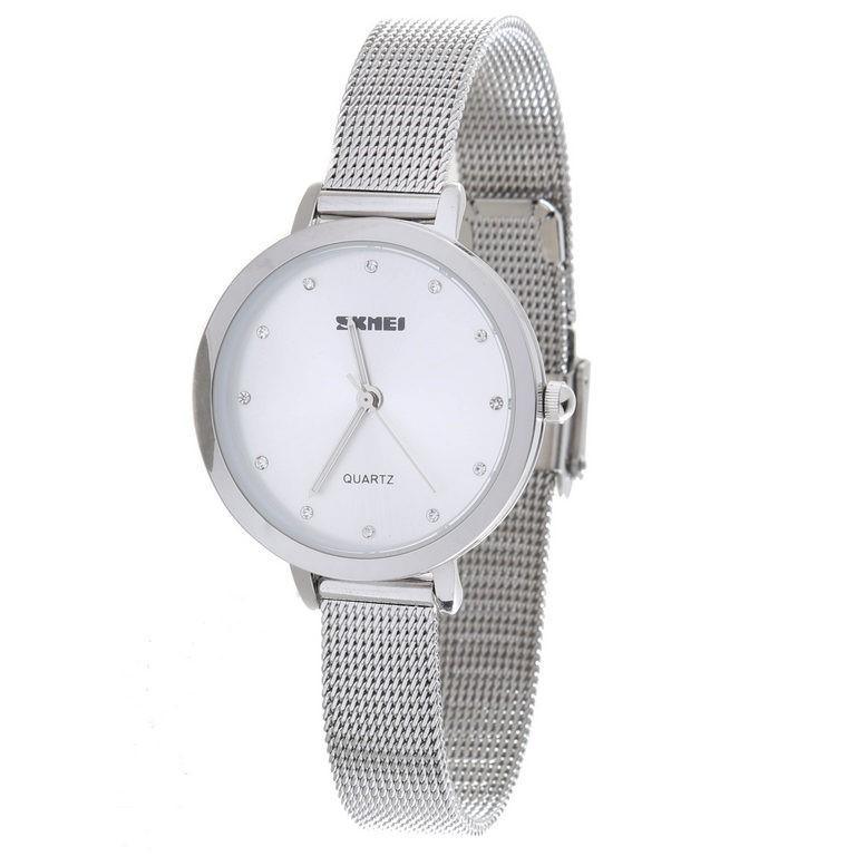 SKMEI Quartz Ladie`s Wrist Watch, Stainless Steel Band & Case, Water Resist