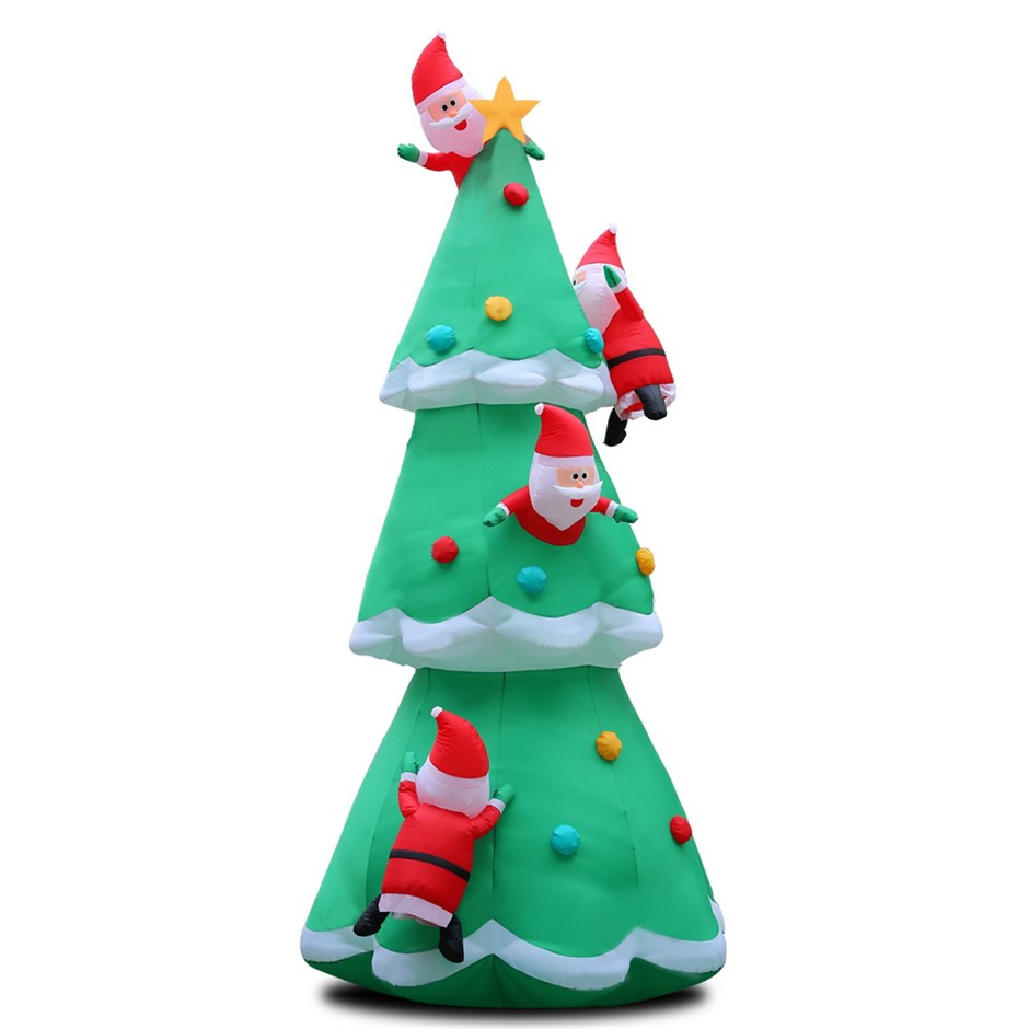Jingle Jollys 5M Christmas Inflatable Santa on Christmas Tree Xmas LED