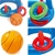 Bestway Game Float Kool Pool Dunk Inflatable Basketball Hoop Set