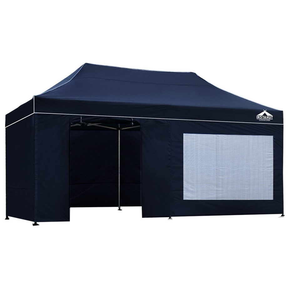 Instahut Aluminium Pop Up Gazebo Outdoor Folding Marquee Tent Canopy Party