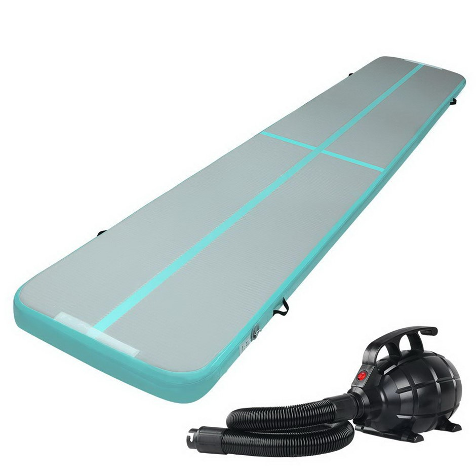 Everfit GoFun 5X1M Inflatable Air Track Mat Pump Tumbling Floor Gymnastics
