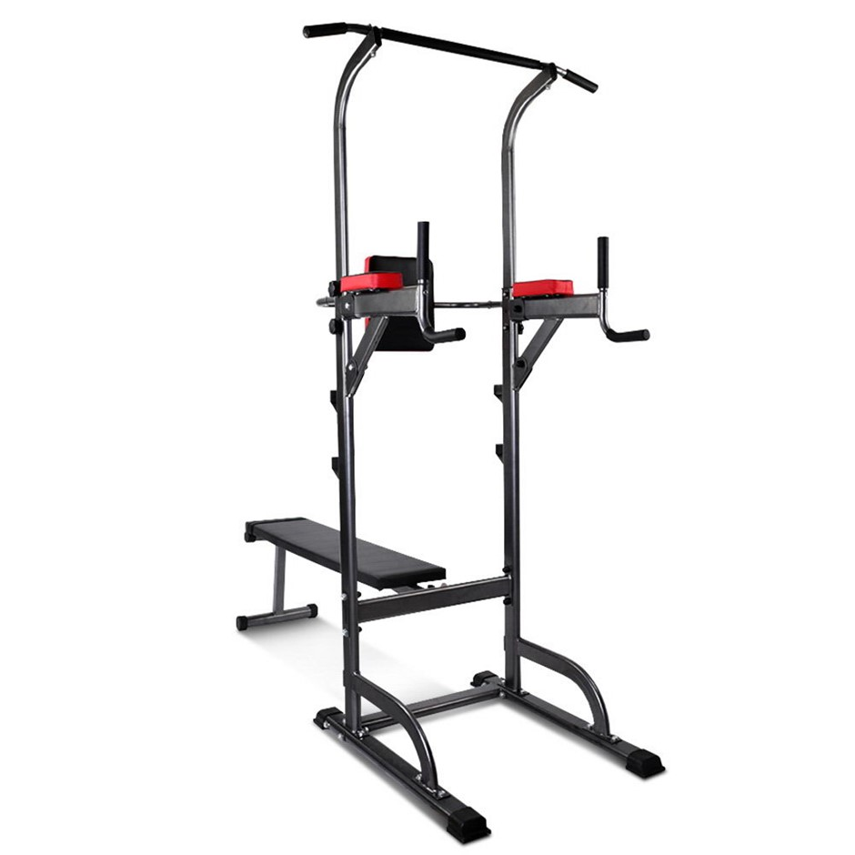 Everfit Chin Up Flat Bench Station