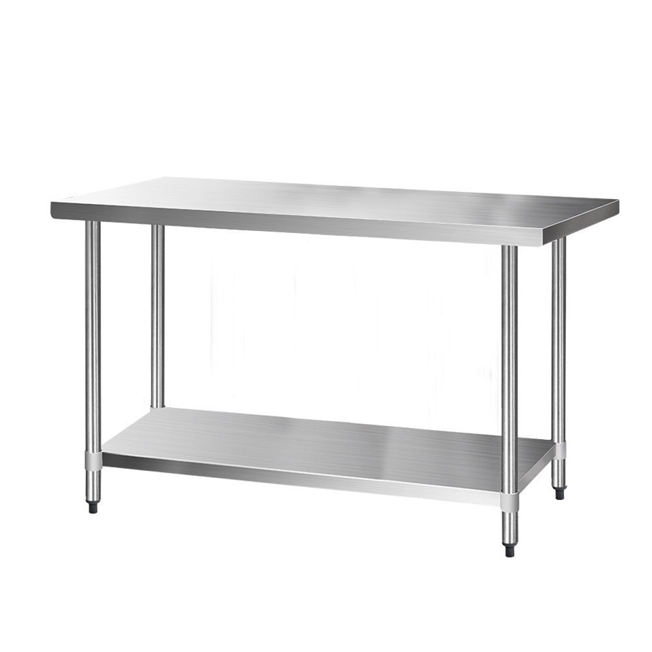 Cefito 1524x760mm Commercial Stainless Steel Kitchen Bench 430 Food Prep