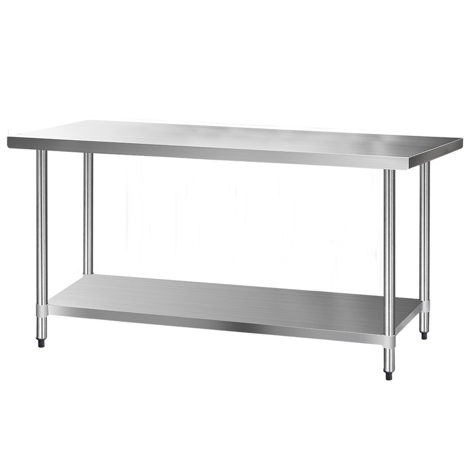 Cefito 1829x760mm Commercial Stainless Steel Kitchen Bench 430 Food Prep