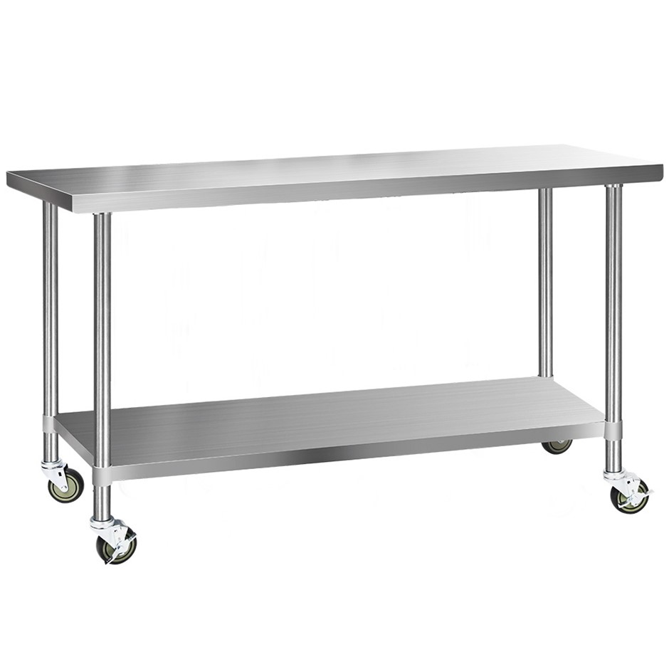Cefito 1829x610mm Commercial 430 Stainless Steel Bench